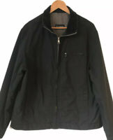 Men's M&S Autograph Black Jacket Coat Large L Cord Collar