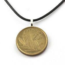 Collier pièce de monnaie Belgique 20 francs - Baudouin Ier
