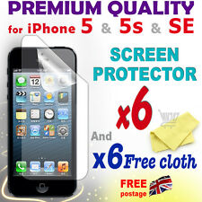 6 new High Quality Screen protective protection film foil for iPhone 5 5S SE