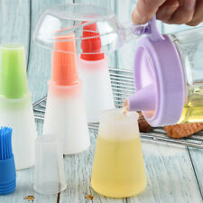 Oil Bottle with Brush Silicone Grill Oil Brushes Kitchen Baking BBQ Tool