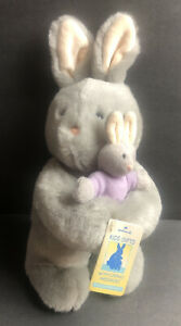 "Bunny Rabbit Plush  Mom and Baby Huggable Stuffed Animal New Hallmark 11"""