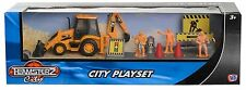 Teamsterz City Playset Toy Inc Figure Choice Of Skip Digger OR Garbage Truck NEW