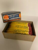Rare Vintage Box of Advertising Pencils 1930's to 1950's