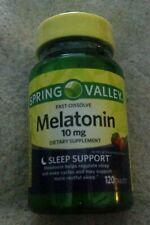 New/Sealed SPRING VALLEY Melatonin Tablets 10 Mg 120 Ct *EXP. SEP 30 2021* SLEEP