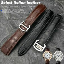14-22mm Leather Cowhide Watch Band Made For Cartier Black Blue Pink Strap Belt