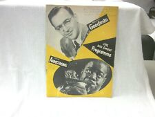 1953 Concert Programme Benny Goodman Louis Armstrong & Many Others
