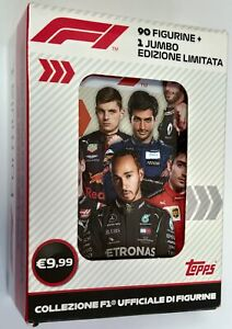 Formula 1 F1 Tin Box 90 Stickers + Jumbo Limited Edition Topps