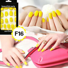 24pcs Nail Tip Artificial False Acrylic Design Fake French Full Nails Art Set FF