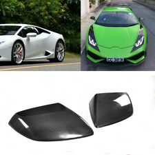 Carbon Fiber Side Mirror Covers Cap 2PCS For Lamborghini Huracan LP610 2014-2018