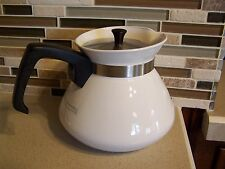 CORNING WARE RARE WINTER FROST WHITE 6-CUP TEAPOT P-104 WITH METAL LID