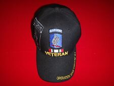 "US 173rd AIRBORNE Brigade VETERAN ""OPERATION IRAQI FREEDOM"" Ball Hat *Never Worn"