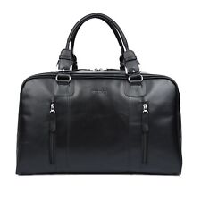 Men's Genuine Leather Travel Sports Duffle Gym Camping Weekend Luggage Tote Bag