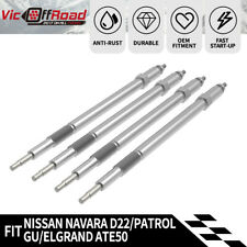 4Pcs Glow Plugs Fit Nissan Zd30 Ddti Turbo Diesel For Navara D22 Patrol Gu