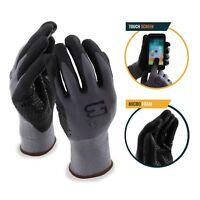 Better Grip Flex BGFLEXMFDOT MicroFoam Work Gloves Work For Smart Phone (Gray)