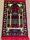 Beautiful Indian Hand Made Wool Rug W/ Monument Design in Vivid Colors, MB347