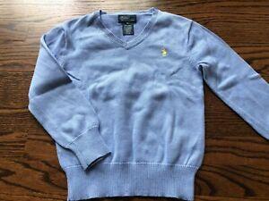 Boy's RALPH LAUREN Light Blue Pullover Sweater - Size 6