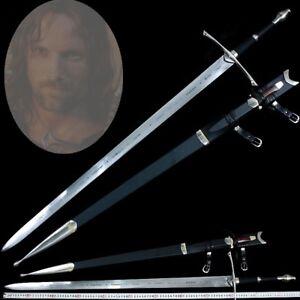 Lord of The Ring Anduril Aragon Strider Ranger Sword NARSIL Pattern Steel #0391