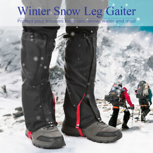 Outdoor Mountain Snow Leg Gaiters Windproof Waterproof Shoes Cover T4L8