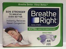 44 Breathe Right Nasal Strips Extra Clear Sensitive Skin Nose Sleep Strips