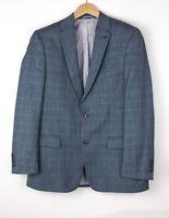 MARIO BERUTTI Herren Wolle Leinen Seide Formelle Blazer Größe 52/42 ARZ351