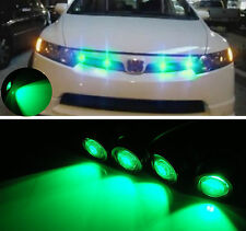 Vehicle Car Front Hood Grille Green Flashing Strobe Emergency Hawkeye LED Lights
