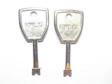 2 kwl13 Starlock upvc double glazed window key replacement window handle keys