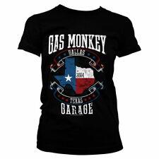 Officially Licensed Gas Monkey Garage - Texas Flag Women's T-Shirt S-XXL Sizes