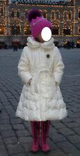 I Pinco Pallino * noble lujo-plumón-abrigo ~ 3d-broche cinturón ~ ~ talla 104-110 wneu