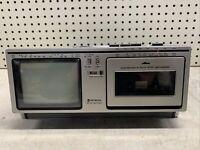 Vintage Hitachi Portable TV & Radio K-2400 RARE COOL OLD MOVIE VIDEO PROP