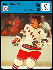 1977 79 SPORTSCASTER ICE HOCKEY BRAD PARK NEW YORK N Y RANGERS CARD