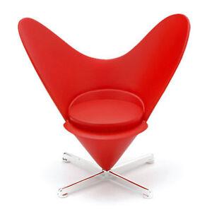 Heart Cone Chair By Verner Panton 1959, Dolls House Miniature Designer Furniture