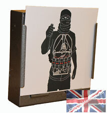 100 Air Rifle Suicide Bomber Police Training 170gsm Card Targets 14cm ( uk made