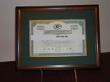Green Bay Packers 2011 Stock Certificate Frame-3 Styles