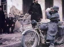COLOR WWII  Photo German Motorcycle Soldier WW2 Wehrmacht World War Two Germany