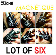Vernis à ongles magnétique Magnetic Nail Polish 6pcs Set & 6pcs Magnetic Slices1