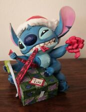 DISNEY Traditions BAD WRAP Stitch Christmas Figurine - Showcase Lilo