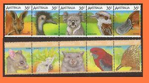 Australia 1986 & 1987 Wildlife Series I & II 2 Se-tenant Strips of 5 MNH