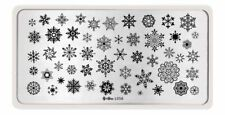 Snowflake Design DIY Nail Art Stamping Stainless Steel Template Stencil