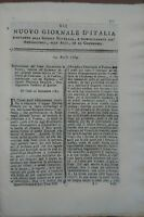 1784 NUOVO GIORNALE D'ITALIA: EPIDEMIA BOVINA A CAVARZERE E PADOVA. SANITA'