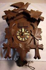 "Vintage Regula French ""Le Petite Diligence"" Musical 2 Door Cuckoo Clock Germany"