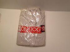 Texaco Uniform Button Front Work Shirt Unitog 15-15 1/2 New Unitog Pin Stripe