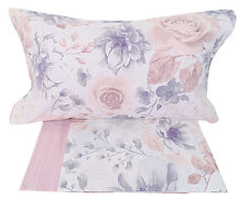 Completo lenzuola matrimoniale 2 piazze rose cloe rosa