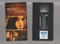 MURDER BY NUMBERS Horror VHS video Movie Gore Cult Slasher Sex SANDRA BULLOCK