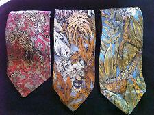 Men's Vintage Silk Ties - Animal Prints