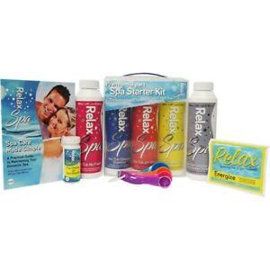 Hot tub chemical testing aqua spa STARTER kit chlorine water lazyspa splash pool