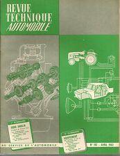 REVUE TECHNIQUE AUTOMOBILE 192 RTA 1962 FORD ANGLIA PREFECT CONSUL 315 CAPRI 335