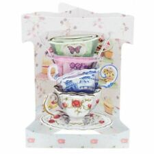 Santoro 3D Swing Card - Stack of Teacups