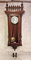 Gustav Becker Vienna Regulator Wall Clock Running 2 Weight Driven 1878 Runs
