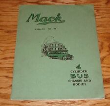 Original 1927 Mack Truck 4 Cylinder Bus Chassis & Bodies Deluxe Sales Catalog 27