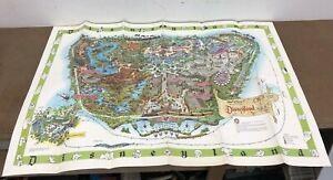 Vintage 1964 DISNEYLAND MAP Theme Park Poster 30 X 45 MATTERHORN Art Original